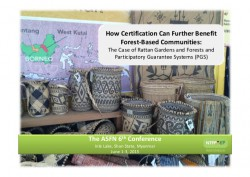 http://www.slideshare.net/CIFOR/how-certification-can-further-benefit-forestbased-communities/
