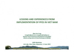 http://www.slideshare.net/CIFOR/lessons-and-experiences-from-implementation-of-pfes-in-viet-nam
