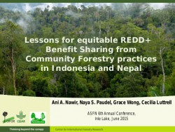 http://www.slideshare.net/CIFOR/lessons-for-equitable-redd-benefit-sharing-from-community-forestry-practices-in-indonesia-and-nepal
