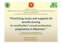 http://www.slideshare.net/CIFOR/prioritizing-issues-and-supports-for-benefit-sharing-in-smallholders-wood-production-programme-in-myanmar