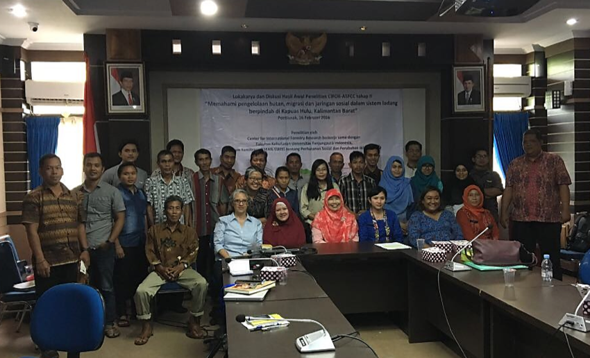 Feedback and knowledge sharing workshop on preliminary results from ASFCC research in Kapuas Hulu, West Kalimantan
