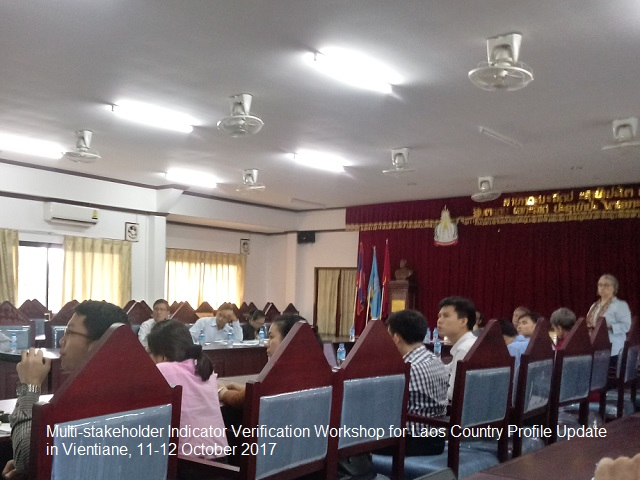 Multi-stakeholder Indicator Verification Workshop for Laos Country Profile Update