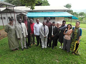 Pilot project's managers with the COBAM research team. Courtesy Merline Touko