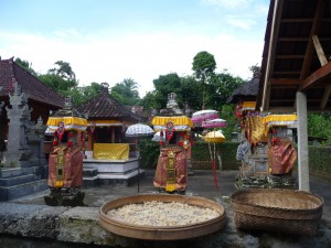 balinese home temple during galungan festival