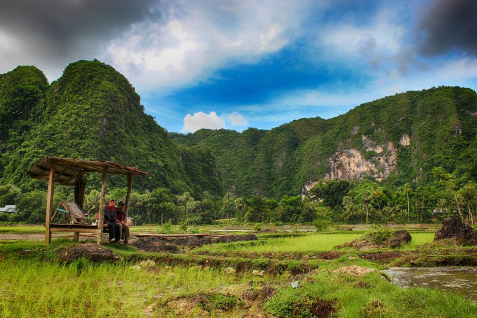 karst mountain the beauty of bantimurung bulusaraung national park landscape carved