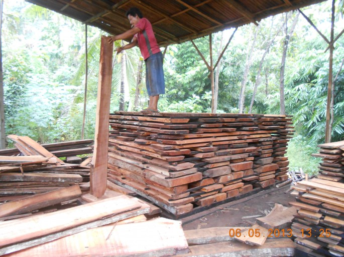 traditional wood drying