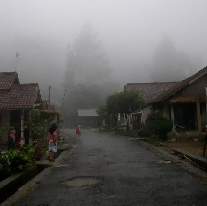 a village in gunung halimun salak