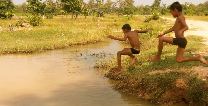 khmer kid s cool off