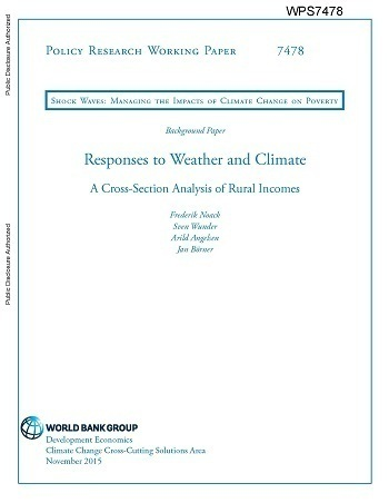 Responses to Weather and Climate: A Cross-Section Analysis of Rural Incomes