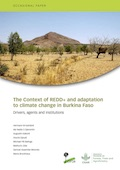The Context of REDD+ and adaptation to climate change in Burkina Faso: Drivers, agents and institutions