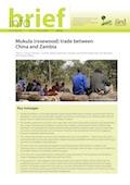 Mukula (rosewood) trade between China and Zambia