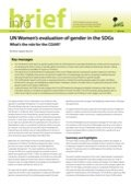 UN Women's evaluation of gender in the SDGs: What's the role for the CGIAR?