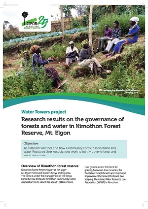 Preliminary research results on the governance of forests and water in Kimothon Forest Reserve, Mt. Elgon