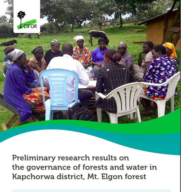 Preliminary research results on the governance of forests and water in Kapchorwa district, Mt. Elgon forest