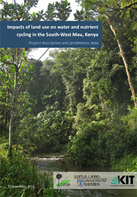 Impacts of land use on water and nutrient cycling in south West Mau, Kenya.